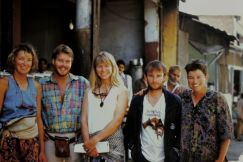 In Uttarkashi, Northern India. Alan Sweetman, me, Geoff Little and Louise Shepherd. 1987.