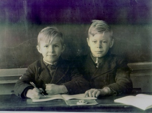 Papa ( left)  and his brother Paul.