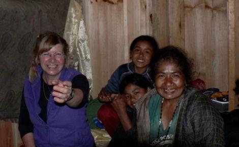 Family time in nepal: Brigitte, Soma ( at the back), Da Jangbu, Pemba Buhari. Purni Maya took the photo