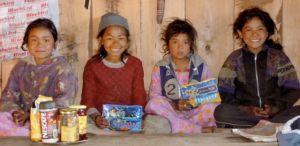 The girls in 2009. From left to right: Soma, Da Jangbu, Phulmaya and Purni Maya at fourteen.