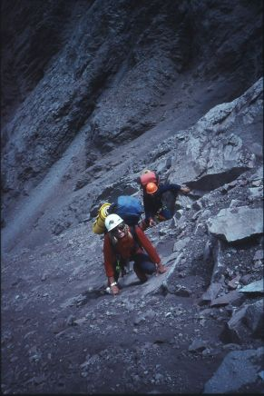 With Geoff Little on our first day of getting over the fear, aconcagua south face
