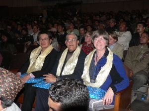 Ugyen Chopel, Yavad Kharel and yours truly at the KIMFF 2008