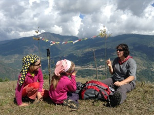 Dominik, Linda and Lyn, picnic en route to Tiger Devi temple