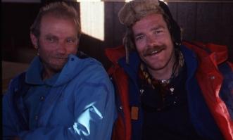 Vladimir Balyberdin and Jon Muir, Caucasus, 1990. ph. J. Chester