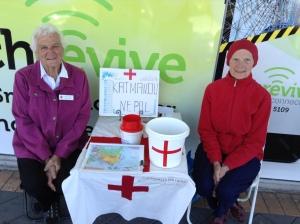 Lovely Red Cross Ladies fundraising for Nepal, Horsham.