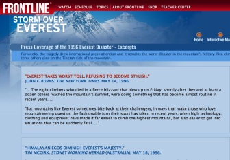 everest 1996 press coverage